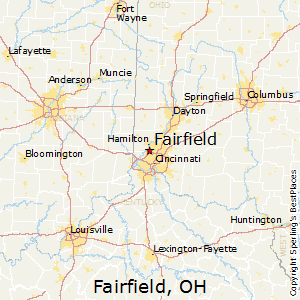 Fairfield,Ohio Map