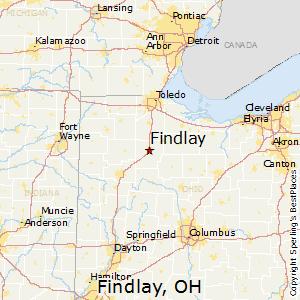 Comparison Lima Ohio Findlay Ohio - Where is lima