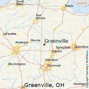 Greenville,Ohio Map