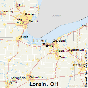 Lorain,Ohio Map