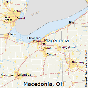 Macedonia,Ohio Map