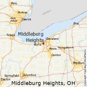 Middleburg_Heights,Ohio Map