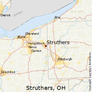 Struthers,Ohio Map