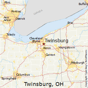 Twinsburg,Ohio Map