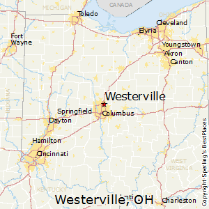 Westerville,Ohio Map