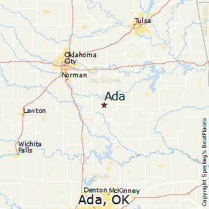 Ada,Oklahoma Map