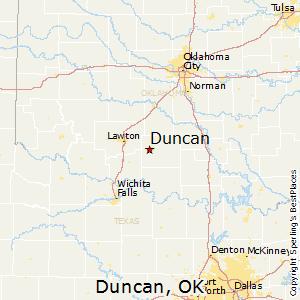 Duncan,Oklahoma Map