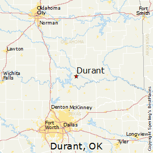 Durant,Oklahoma Map
