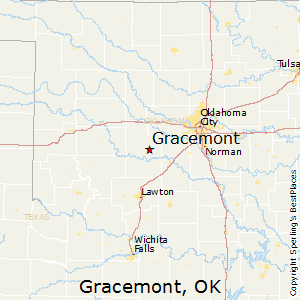 Gracemont,Oklahoma Map