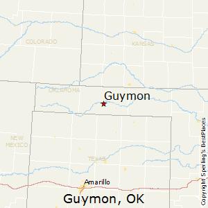 Guymon,Oklahoma Map
