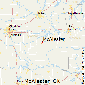 McAlester,Oklahoma Map