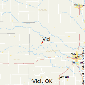 Vici,Oklahoma Map