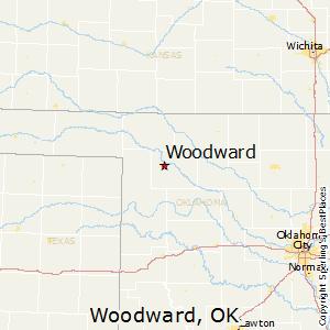 Woodward,Oklahoma Map