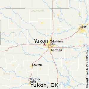 Yukon,Oklahoma Map