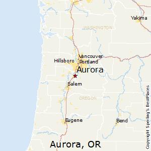 Aurora,Oregon Map