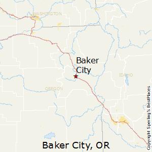 Baker_City,Oregon Map