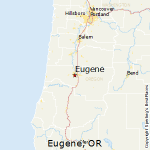 Eugene,Oregon Map