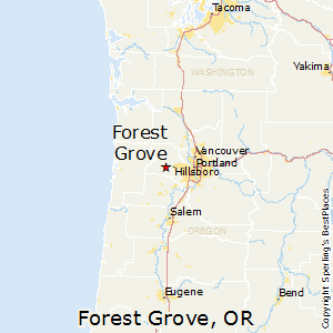 Forest_Grove,Oregon Map