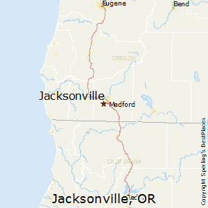 Jacksonville,Oregon Map