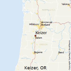 Comparison Wenatchee Washington  Keizer Oregon