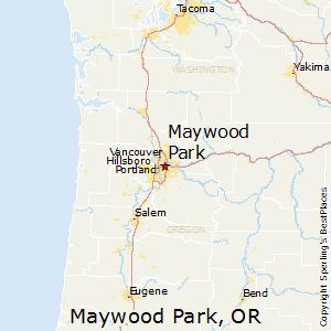 Maywood_Park,Oregon Map