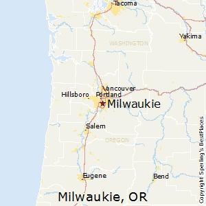 Milwaukie,Oregon Map