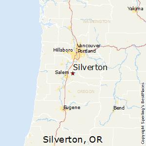 Silverton,Oregon Map