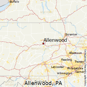 Allenwood,Pennsylvania Map