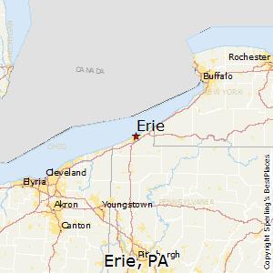 Erie,Pennsylvania Map