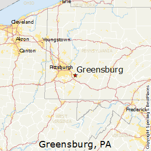 Greensburg,Pennsylvania Map