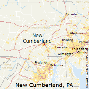 New_Cumberland,Pennsylvania Map