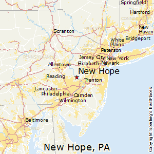 New_Hope,Pennsylvania Map