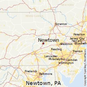 Newtown,Pennsylvania Map