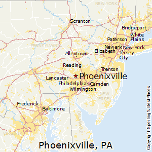 Phoenixville,Pennsylvania Map