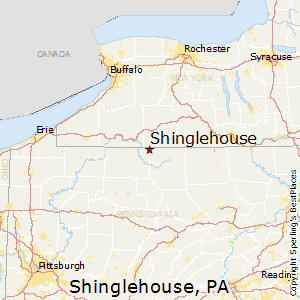 Shinglehouse,Pennsylvania Map