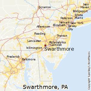Swarthmore,Pennsylvania Map