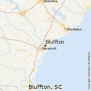 Bluffton,South Carolina Map