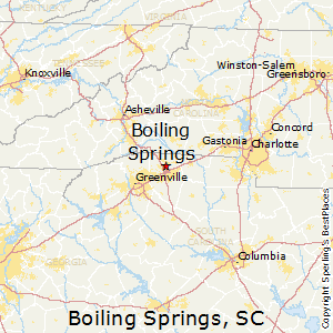 Boiling_Springs,South Carolina Map