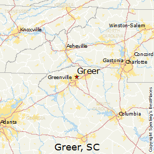 Greer,South Carolina Map