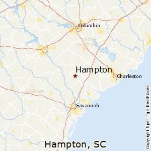 Hampton,South Carolina Map