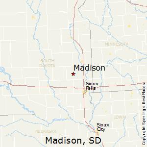 Madison,South Dakota Map