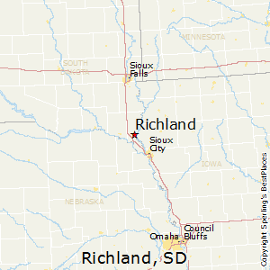 Richland,South Dakota Map