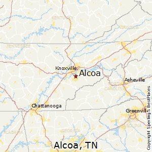 Alcoa,Tennessee Map