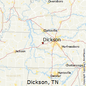 Dickson,Tennessee Map