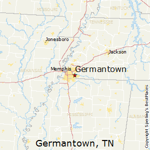 Germantown,Tennessee Map