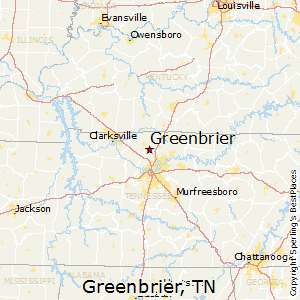 Greenbrier,Tennessee Map