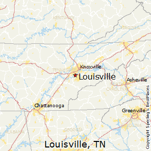 Louisville,Tennessee Map