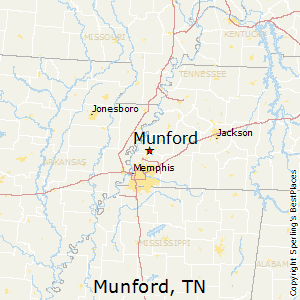 Munford,Tennessee Map