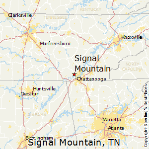 Signal_Mountain,Tennessee Map