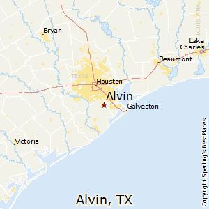 Alvin,Texas Map